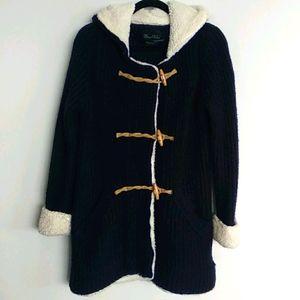 Zara knit Hooded Toggle Sweater Cardigan M